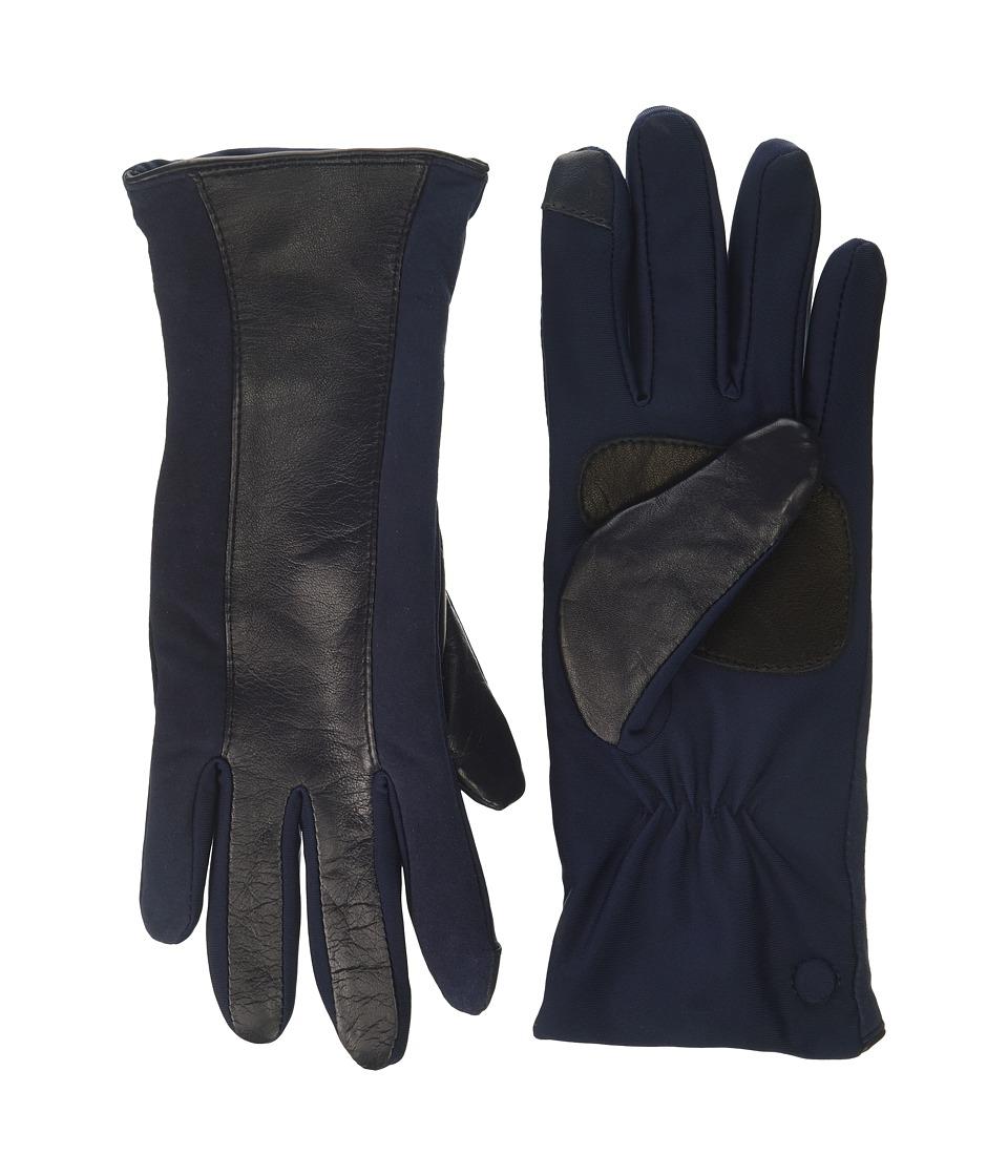 Echo Design Leather Stripe Superfit Gloves (Maritime Navy) Dress Gloves