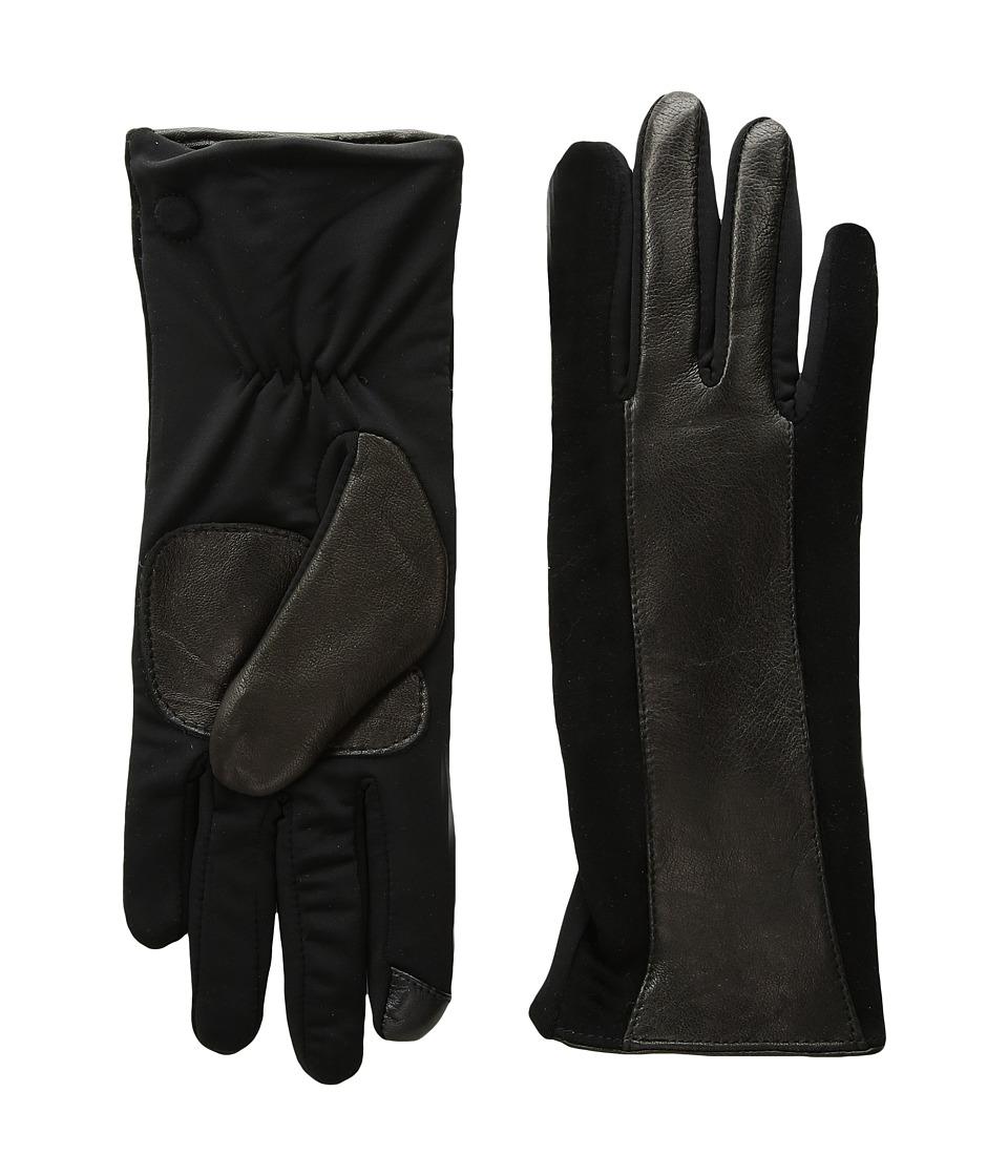 Echo Design Leather Stripe Superfit Gloves (Black) Dress Gloves