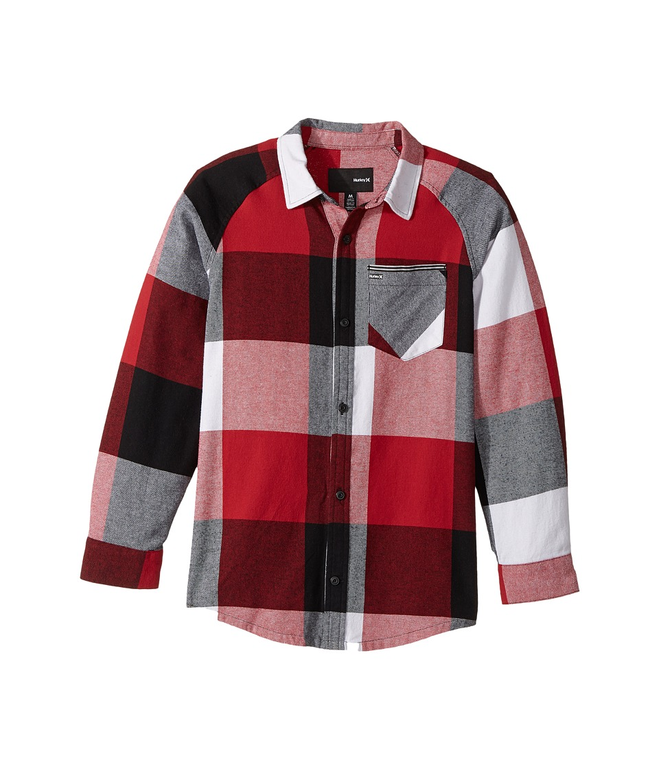 Hurley Kids - Flannel Long Sleeve Raglan Top