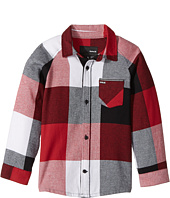 Hurley Kids - Flannel Long Sleeve Raglan Top (Little Kids)