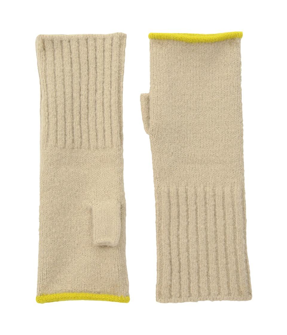 Echo Design Echo Soft Stretch Fingerless Gloves (Oatmeal) Dress Gloves