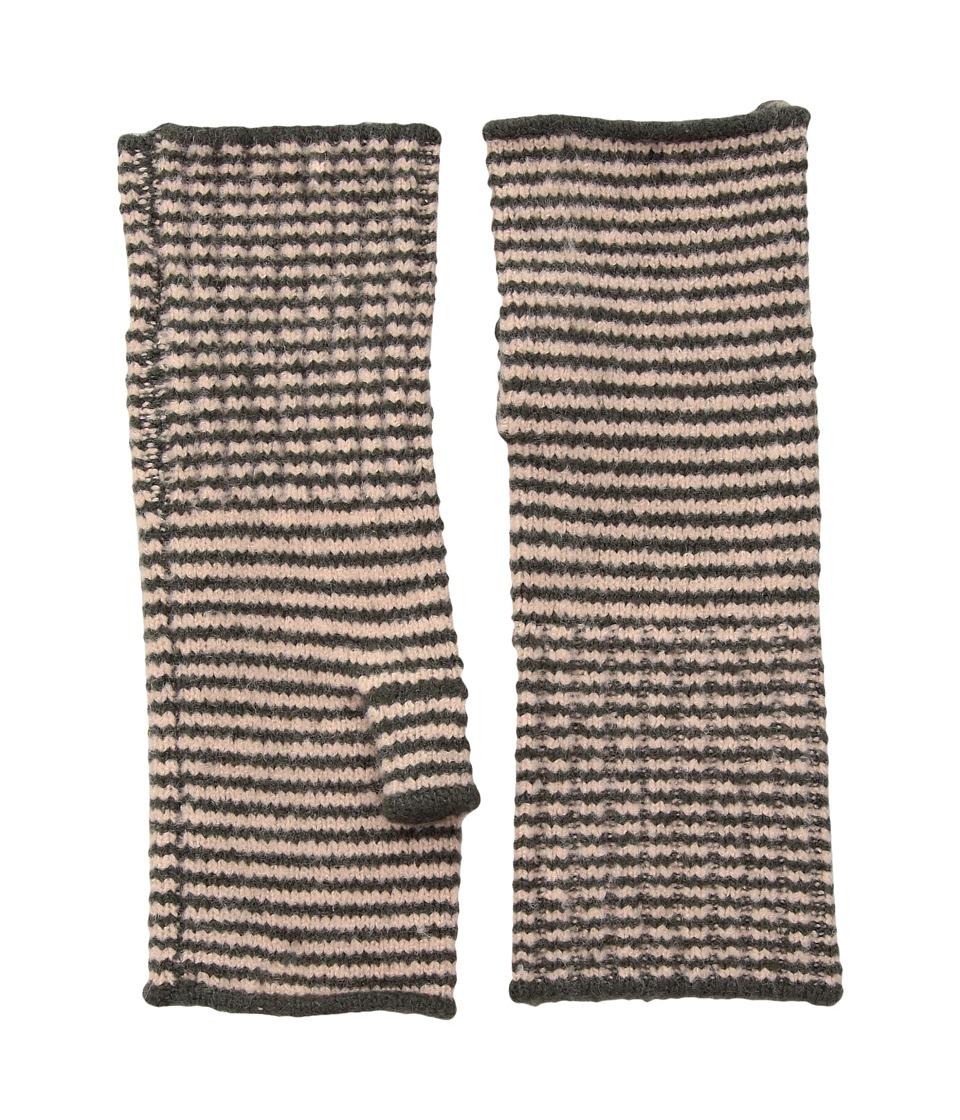 Echo Design Echo Soft Stretch Mini Stripe Fingerless Gloves (Magnet) Dress Gloves