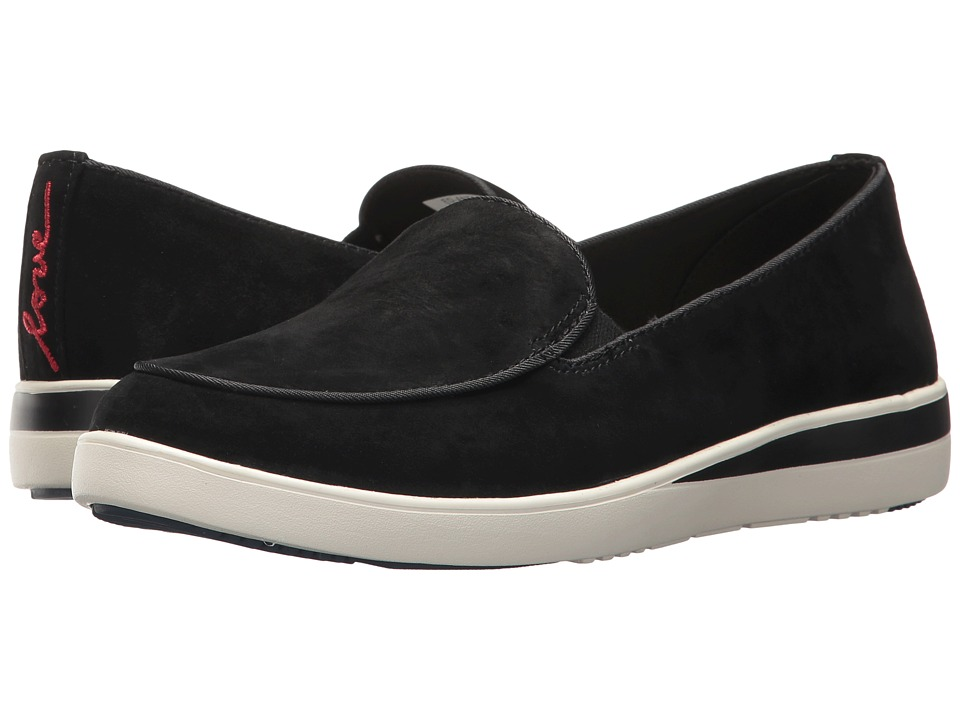 ED Ellen DeGeneres - Antona (Black/Black Kid Suede/Felted Elastic) Womens Shoes