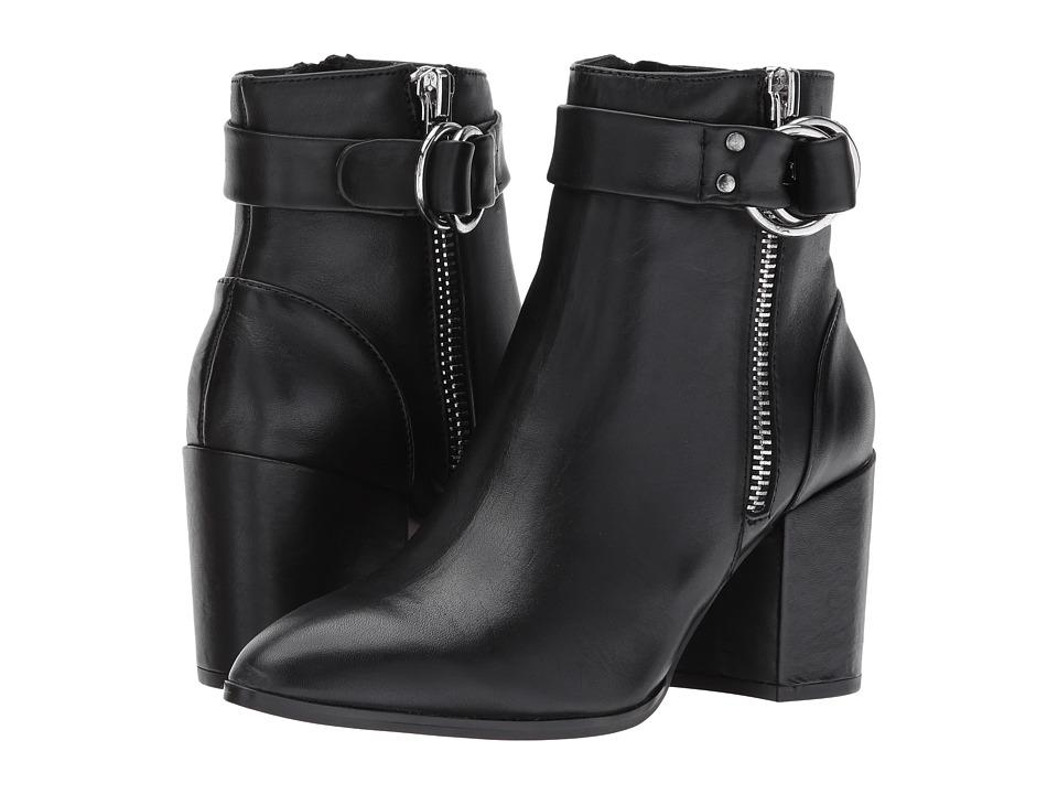 Steven - Johannah Bootie (Black Leather) Womens Shoes