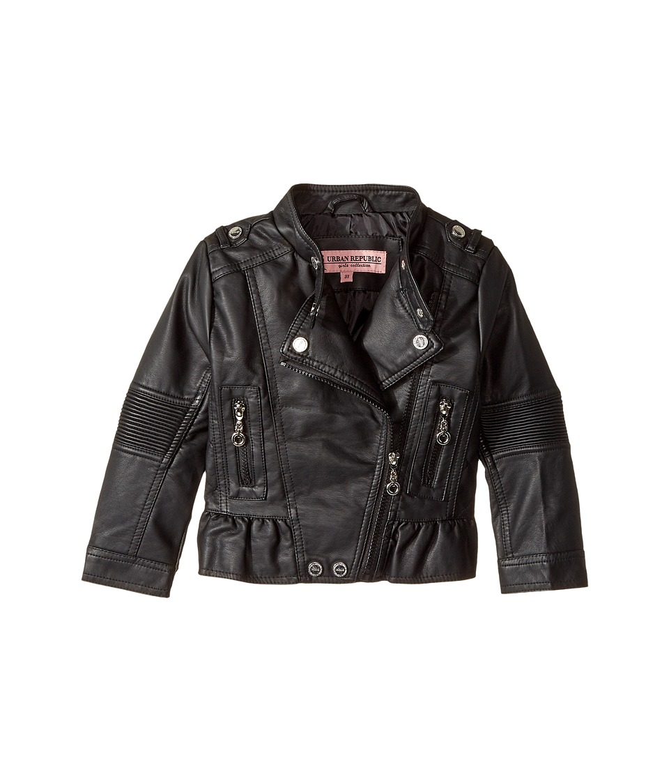 Urban Republic Kids - Faux Leather Moto with Peplum