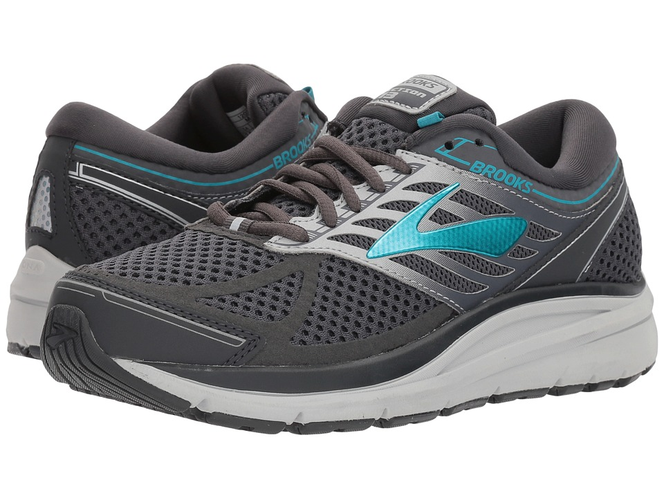 Brooks Addiction 13 (Ebony/Silver/Pagoda Blue) Women's Running Shoes