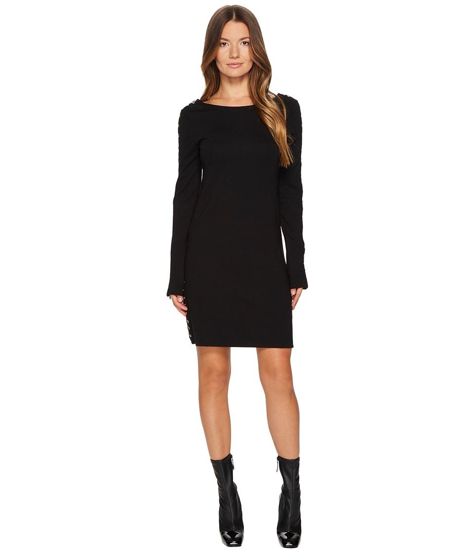 McQ Zip Sleeve Short Interlock Dress (Darkest Black) Women