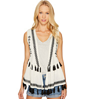 Steve Madden - Embroidered Cotton Peplum Vest
