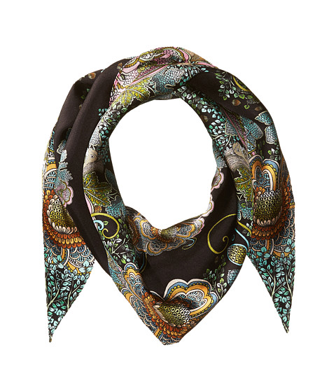 Echo Design Forest Scene Silk Diamond Shape Scarf - Black