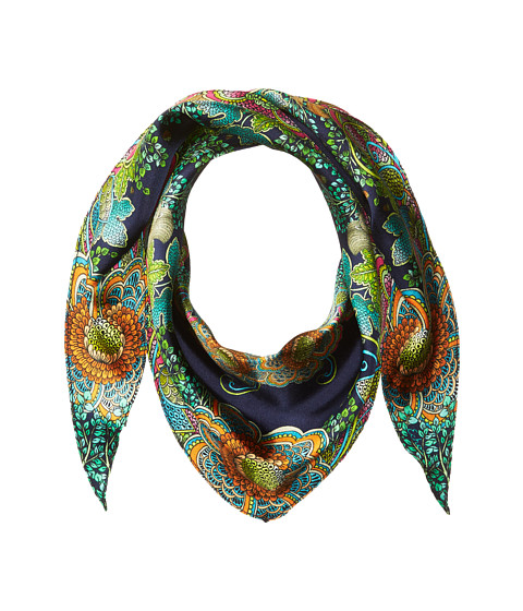 Echo Design Forest Scene Silk Diamond Shape Scarf - Maritime Navy