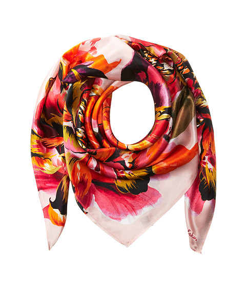 Echo Design Abstract Floral Silk Square Scarf - Blush