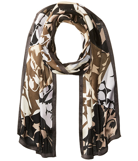 Echo Design Geo Trellis Silk Oblong Scarf - Black