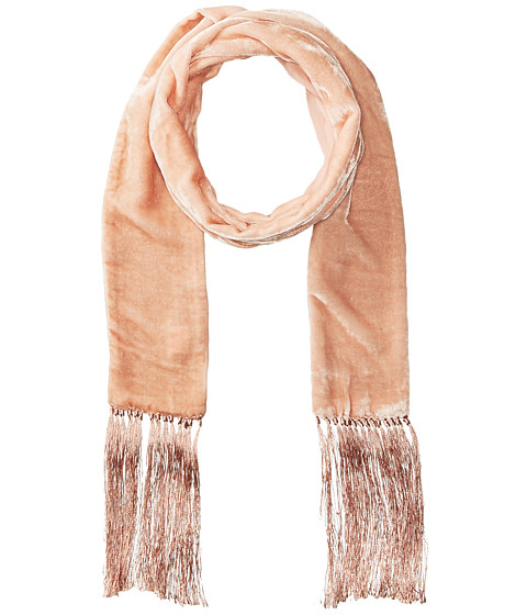 Echo Design Velvet Double-Faced Long and Skinny Oblong Scarf - Blush