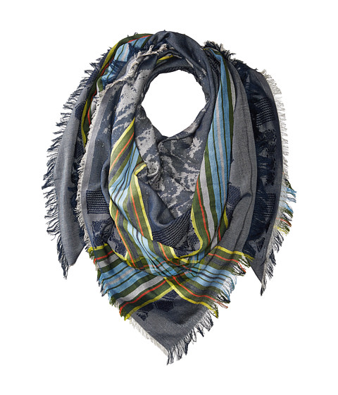 Echo Design Oversize Plaid Square Scarf - Maritime Navy