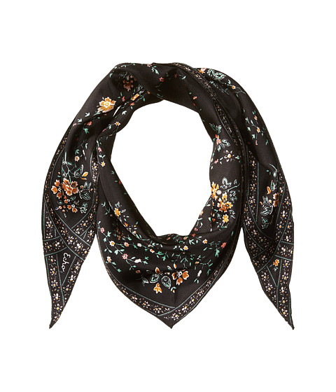 Echo Design Floral Lace Silk Diamond Shape Scarf - Black