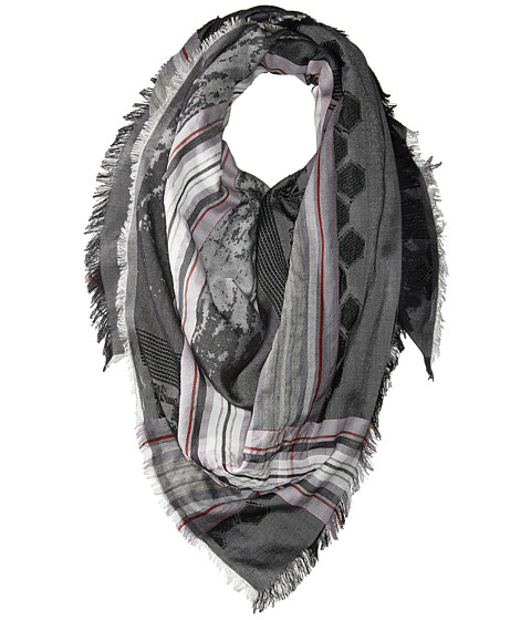 Echo Design Oversize Plaid Square Scarf - Black