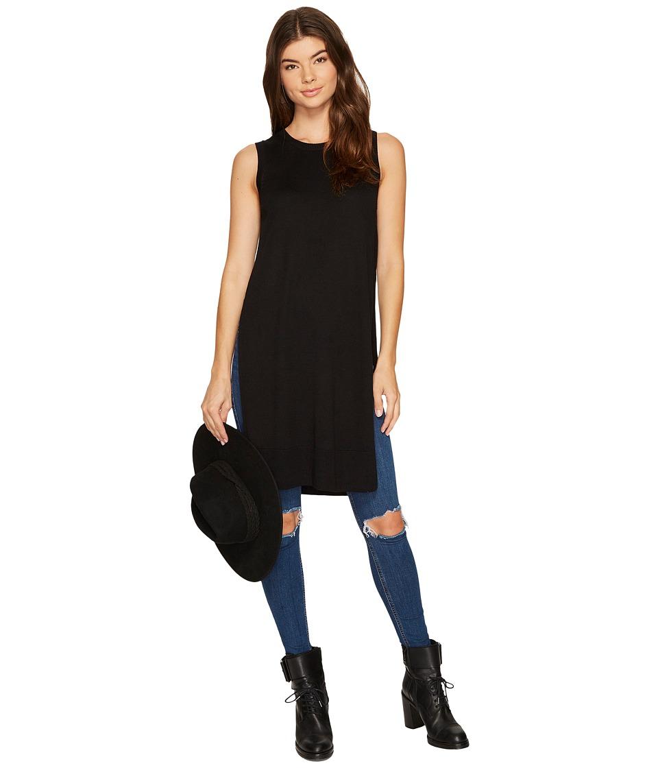 kensie Soft Sweater Vest KS8K5718 (Black) Women