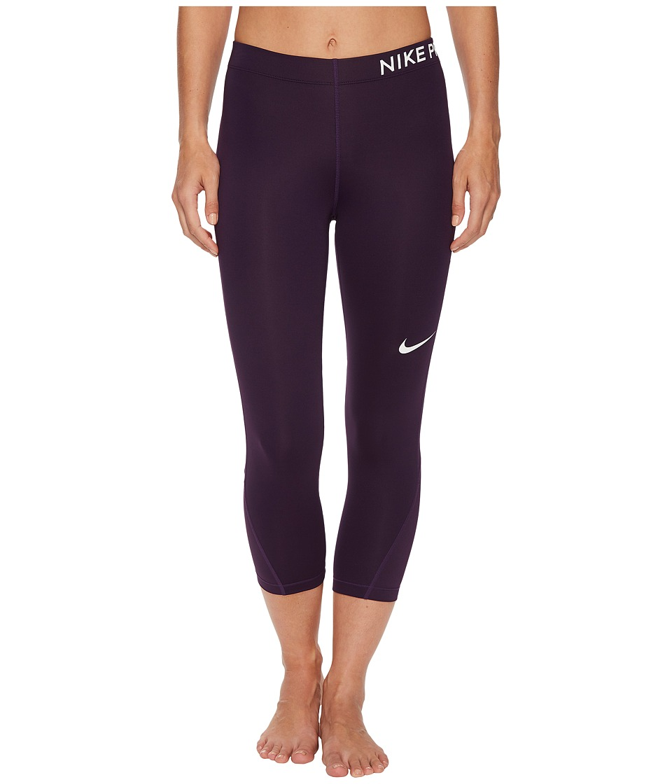 Nike Pro Capri (Grand Purple/Grand Purple/White) Women