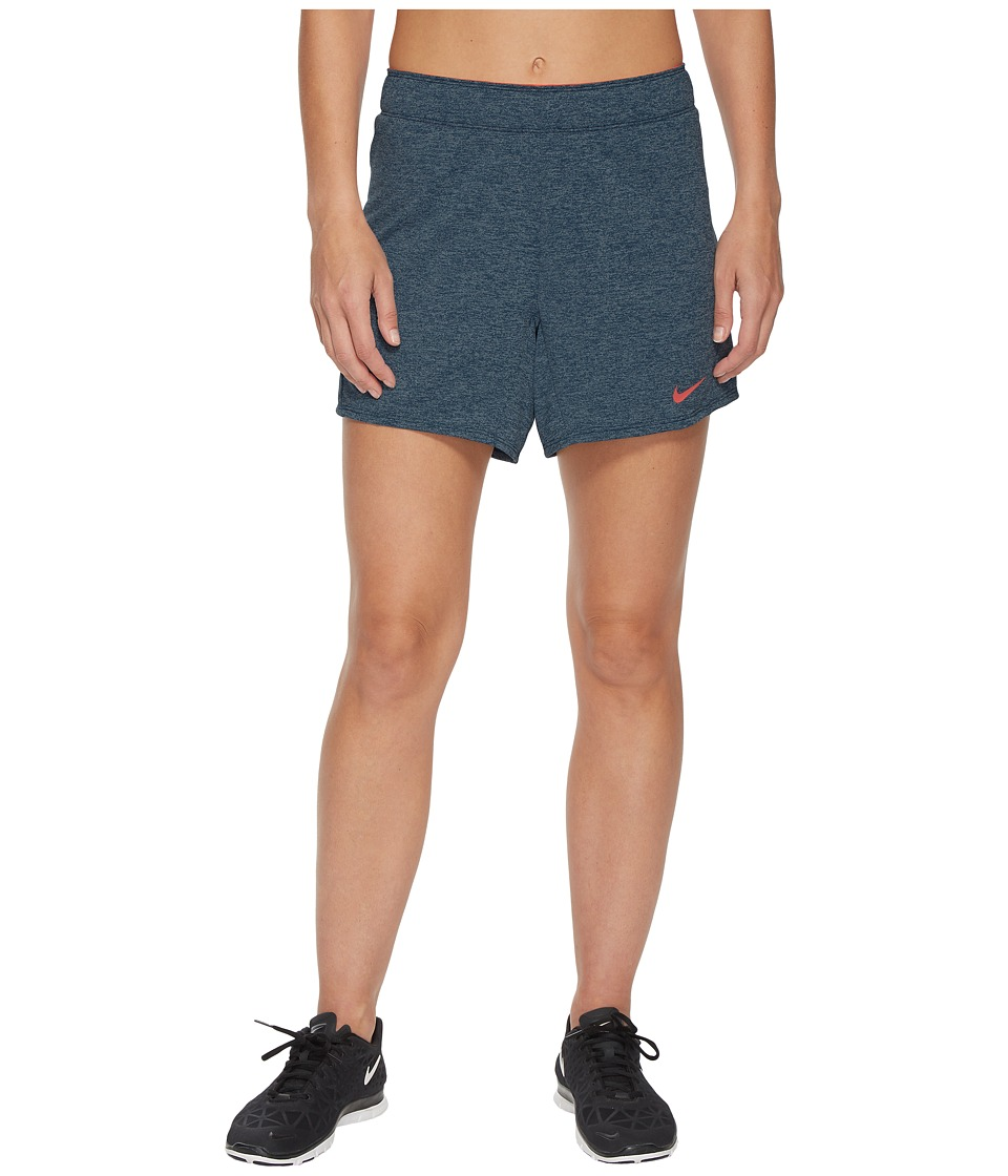 Nike Flex Attack Training Short (Blue Force/Heather/Hot Punch) Women