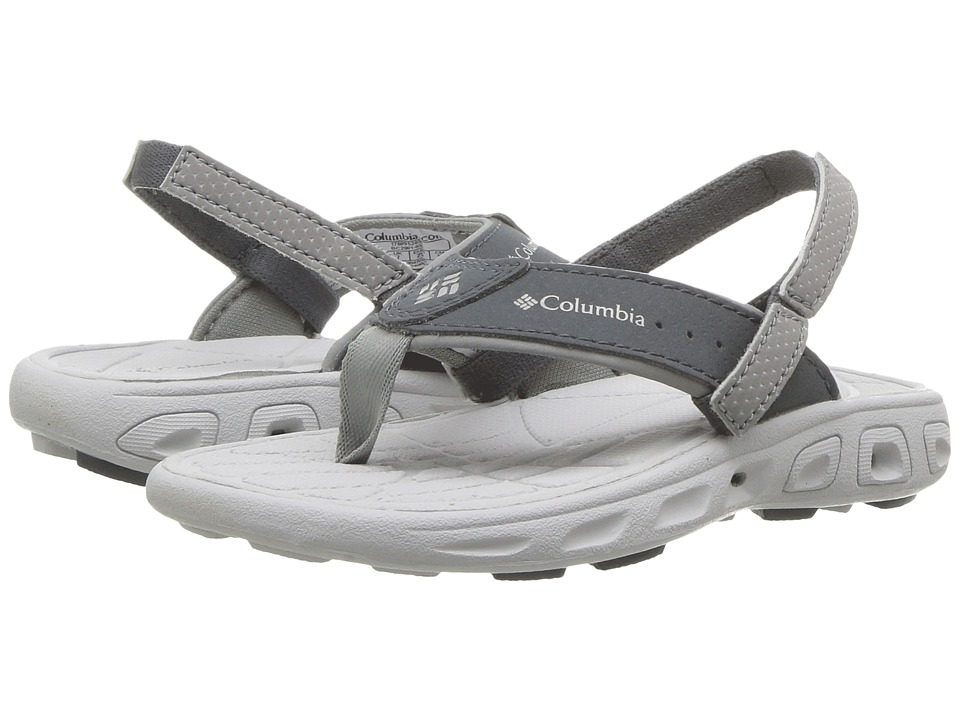 Columbia Kids - Techsun Flip (Toddler/Little Kid) (Monument/Silver Grey) Boys Shoes