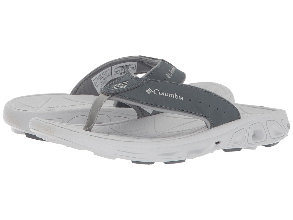 Columbia Kids - Techsun Flip (Little Kid/Big Kid) (Monument/Silver Grey) Boys Shoes