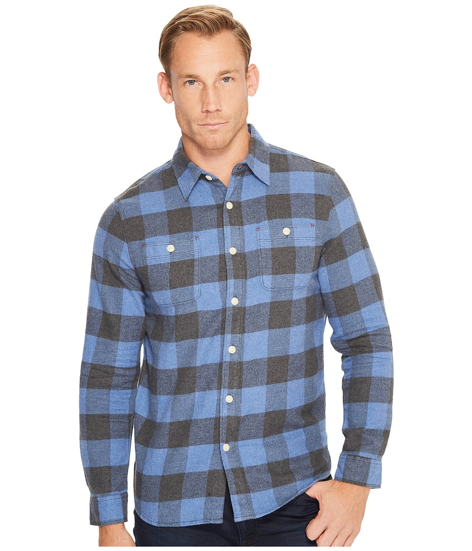 True Grit - Highway 1 Roadtrip Heather Melange Flannel Plaid Long Sleeve Shirt