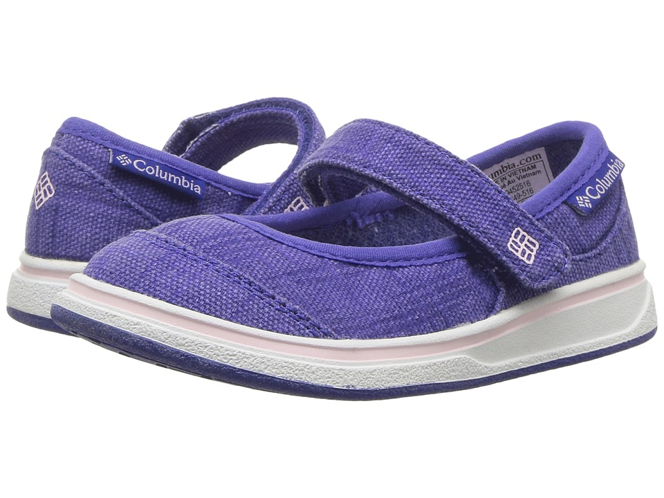 Columbia Kids - Kylie (Toddler/Little Kid/Big Kid) (Clematis Blue/Satin Pink) Girls Shoes