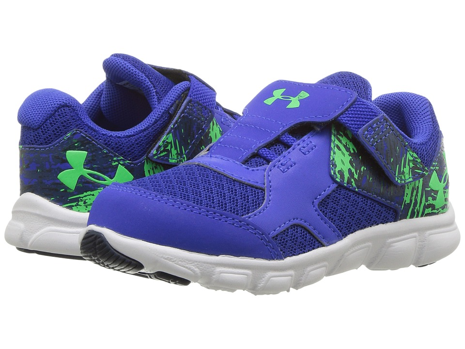Under Armour Kids - UA BINF Thrill RN AC (Infant/Toddler) (Royal/White/Arena Green) Boys Shoes