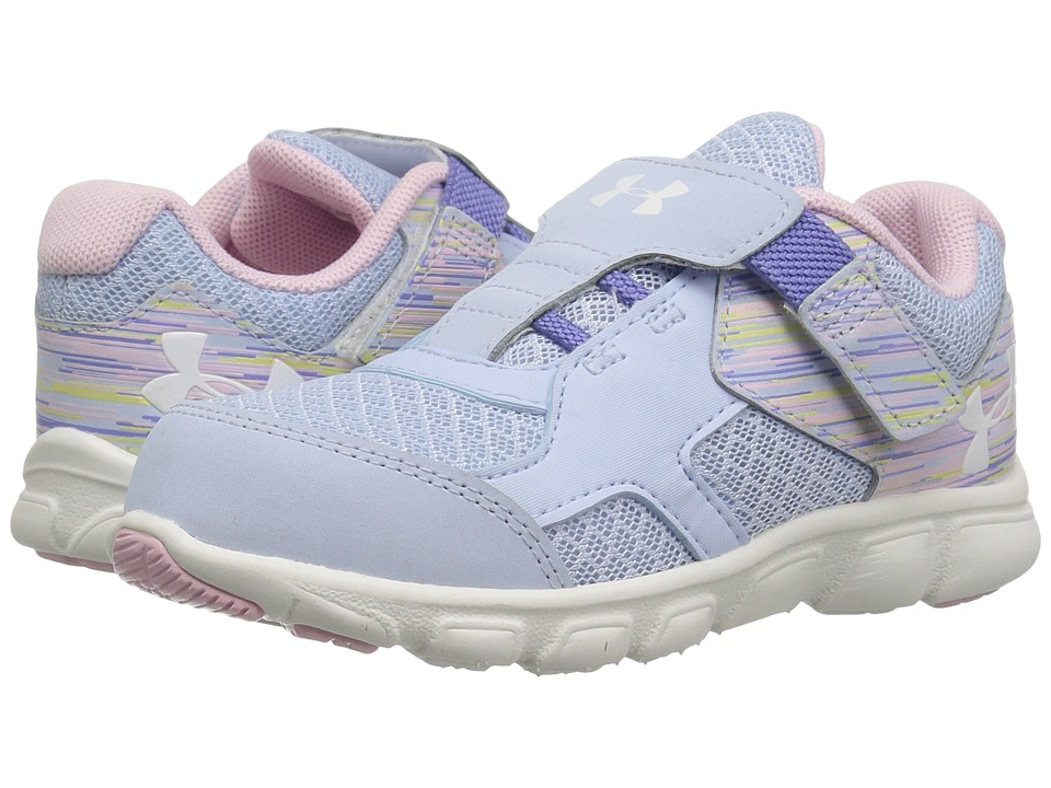 Under Armour Kids - UA GINF Thrill RN AC (Infant/Toddler) (Oxford Blue/Petal Pink/Ivory) Girls Shoes