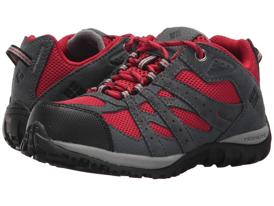 Columbia Kids Redmond Waterproof (Little Kid/Big Kid) (Mountain Red/Black) Boys Shoes
