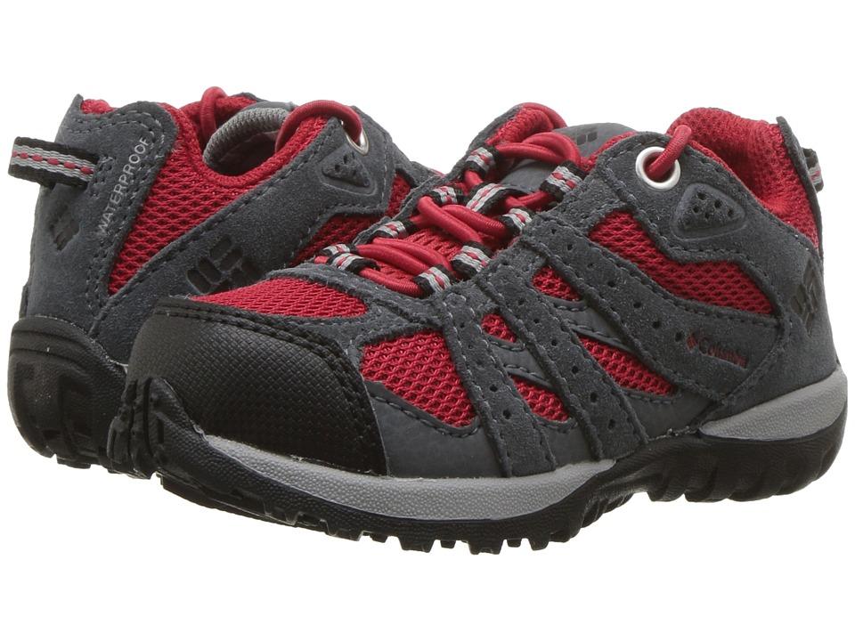 Columbia Kids Redmond Waterproof (Toddler/Little Kid) (Mountain Red/Black) Boys Shoes
