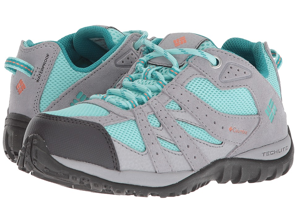 Columbia Kids - Redmond Waterproof (Little Kid/Big Kid) (Gulf Stream/Bright Peach) Girls Shoes