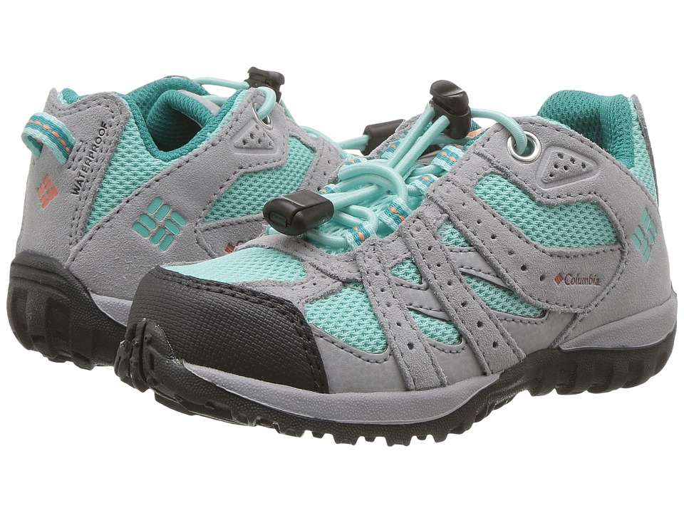 Columbia Kids Redmond Waterproof (Toddler/Little Kid) (Gulf Stream/Bright Peach) Girls Shoes