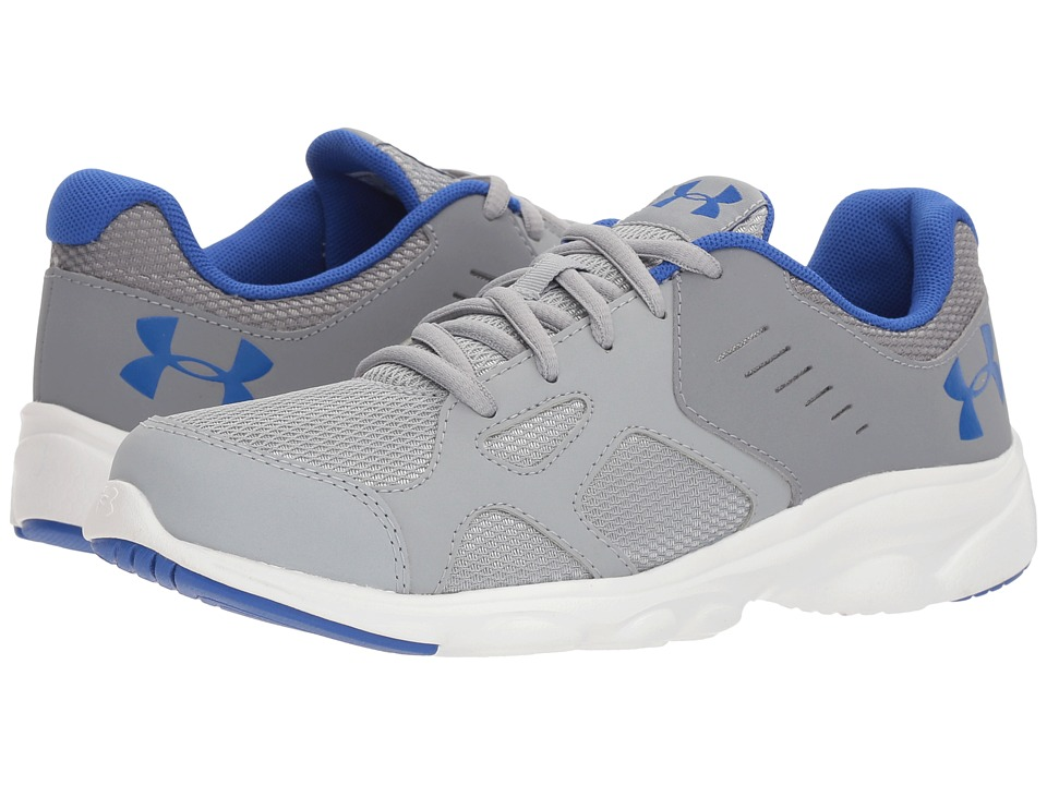 Under Armour Kids - UA BGS Pace RN (Big Kid) (Steel/White/Team Royal) Boys Shoes