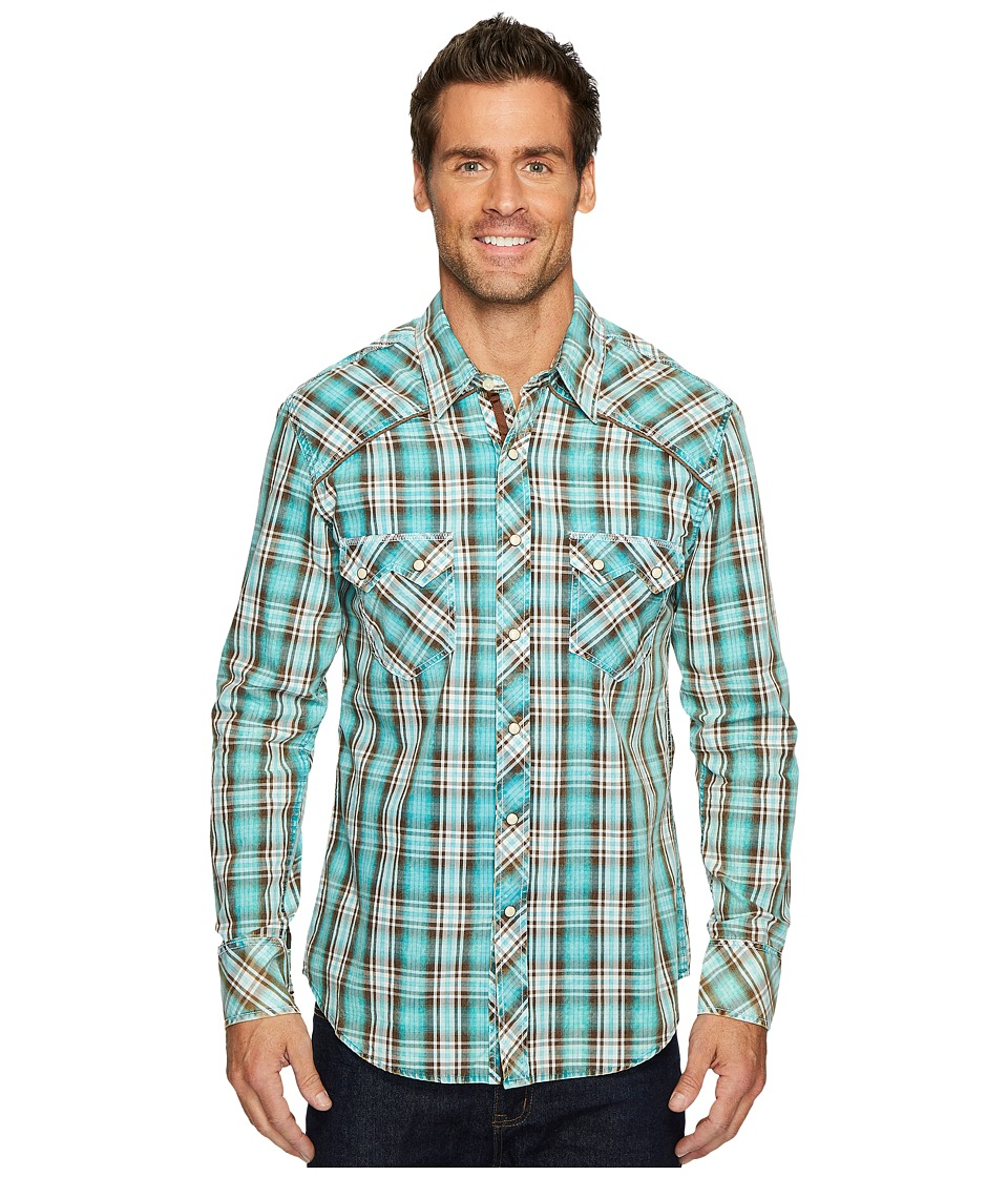 Rock and Roll Cowboy - Long Sleeve Snap B2S4129 (Brown) M...