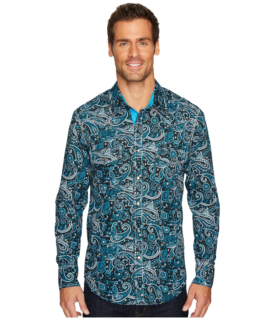 Rock and Roll Cowboy - Long Sleeve Snap B2S4104 (Turquois...