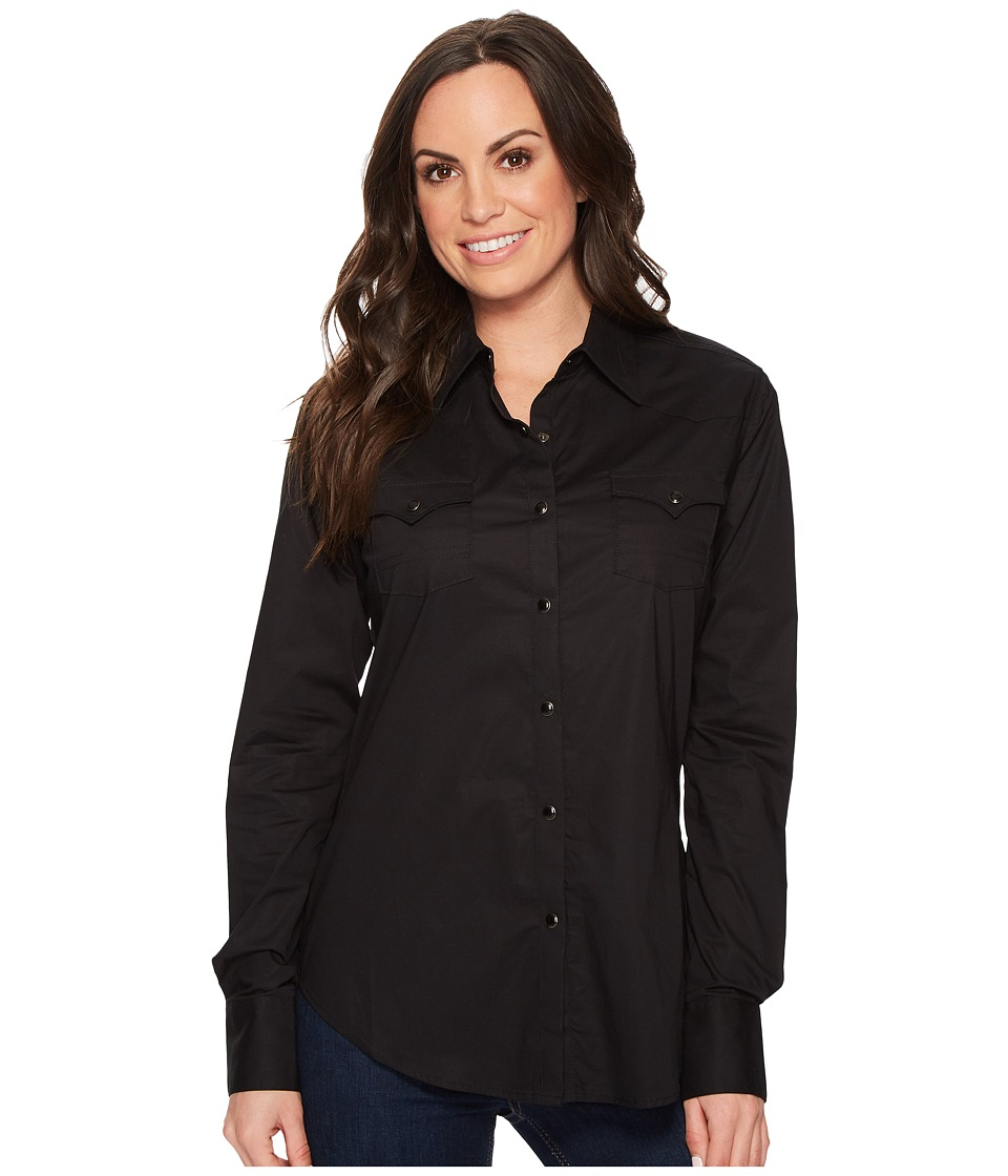 Rock and Roll Cowgirl - Long Sleeve Snap B4S4313 (Black) ...
