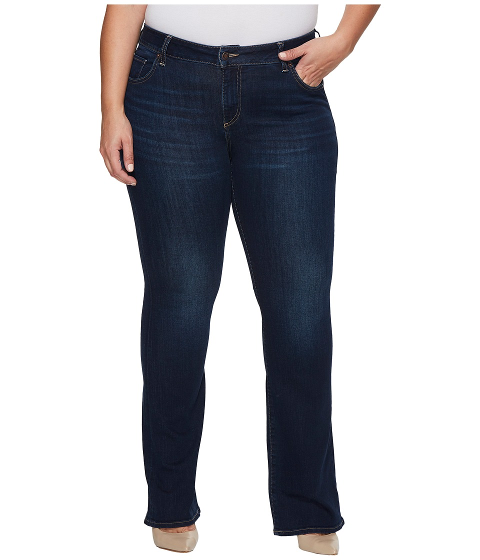 Lucky Brand Plus Size Ginger Bootcut Jeans in Twilight Blue (Twilight Blue) Women