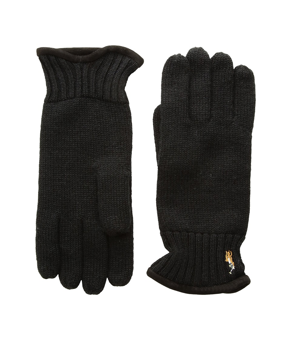 Polo Ralph Lauren Classic Lux Merino Gloves (Polo Black) Wool Gloves