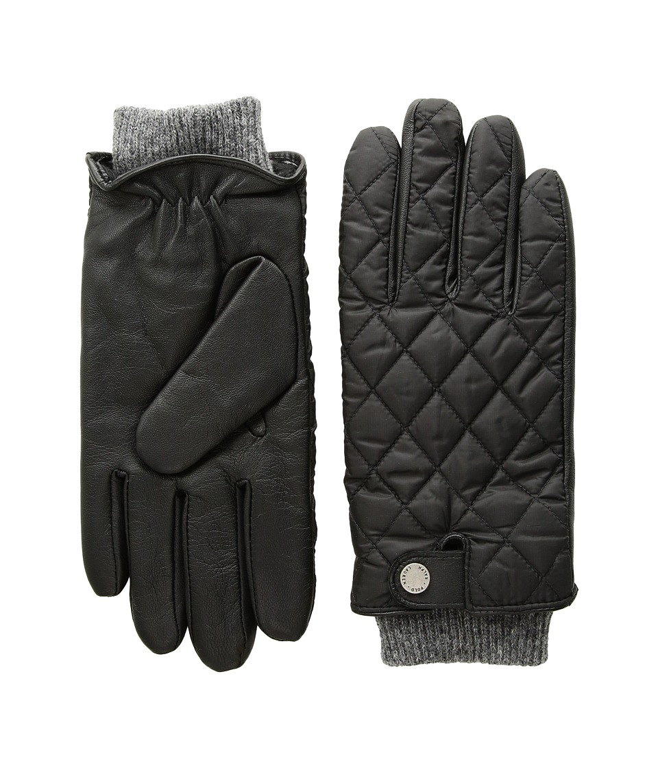 Polo Ralph Lauren Quilted Feild Gloves (Black) Extreme Cold Weather Gloves