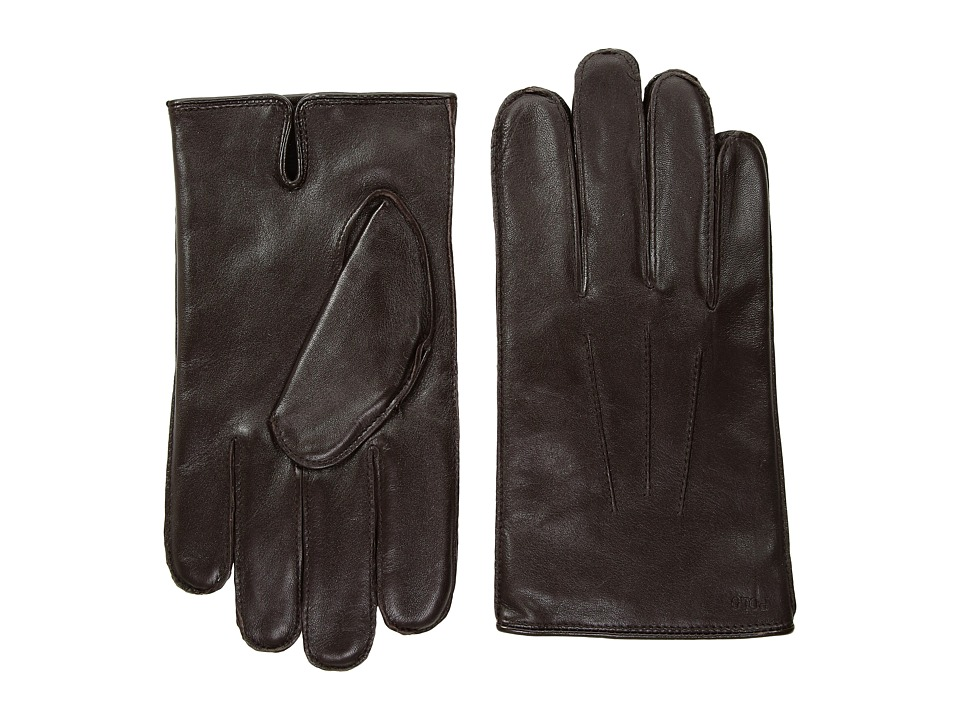 Polo Ralph Lauren Everyday Nappa Gloves (Circuit Brown) Extreme Cold Weather Gloves