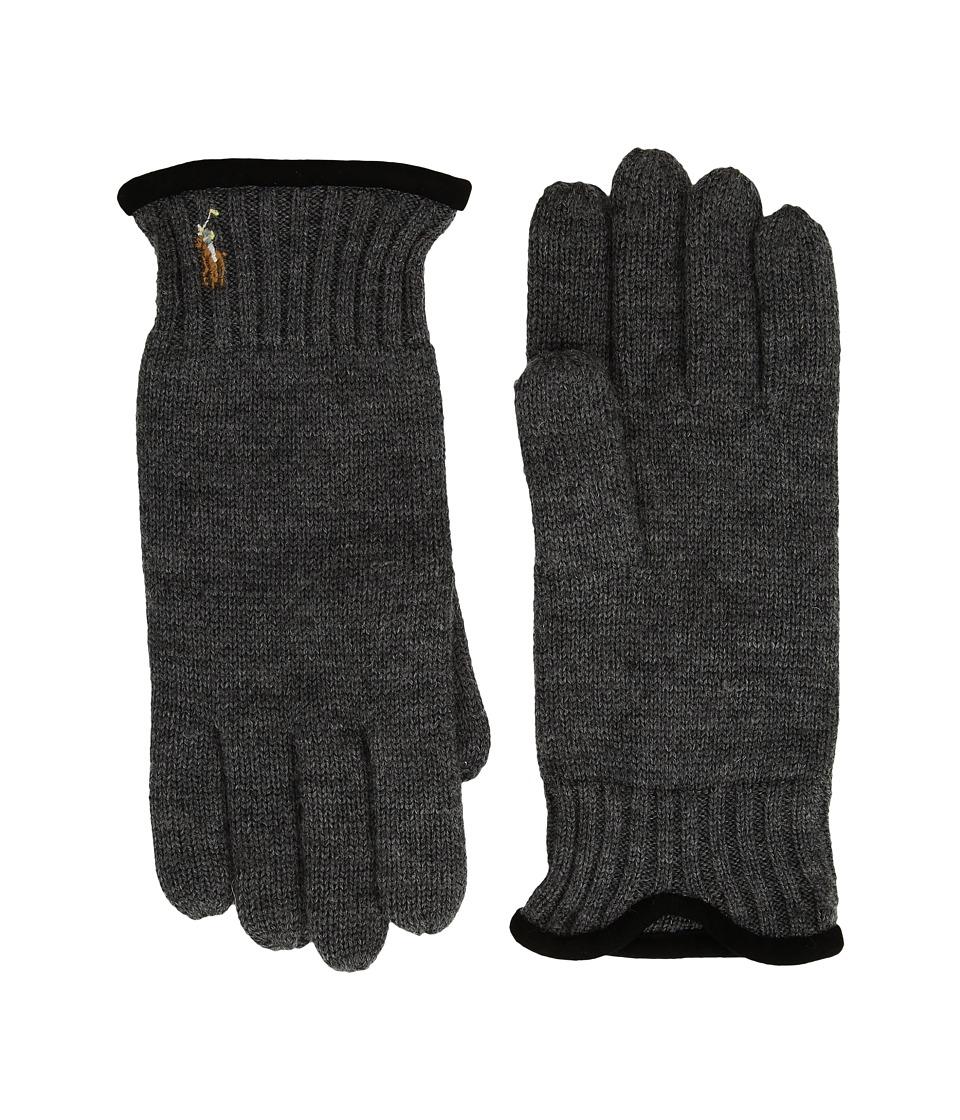 Polo Ralph Lauren Classic Lux Merino Gloves (Windsor Heather) Wool Gloves