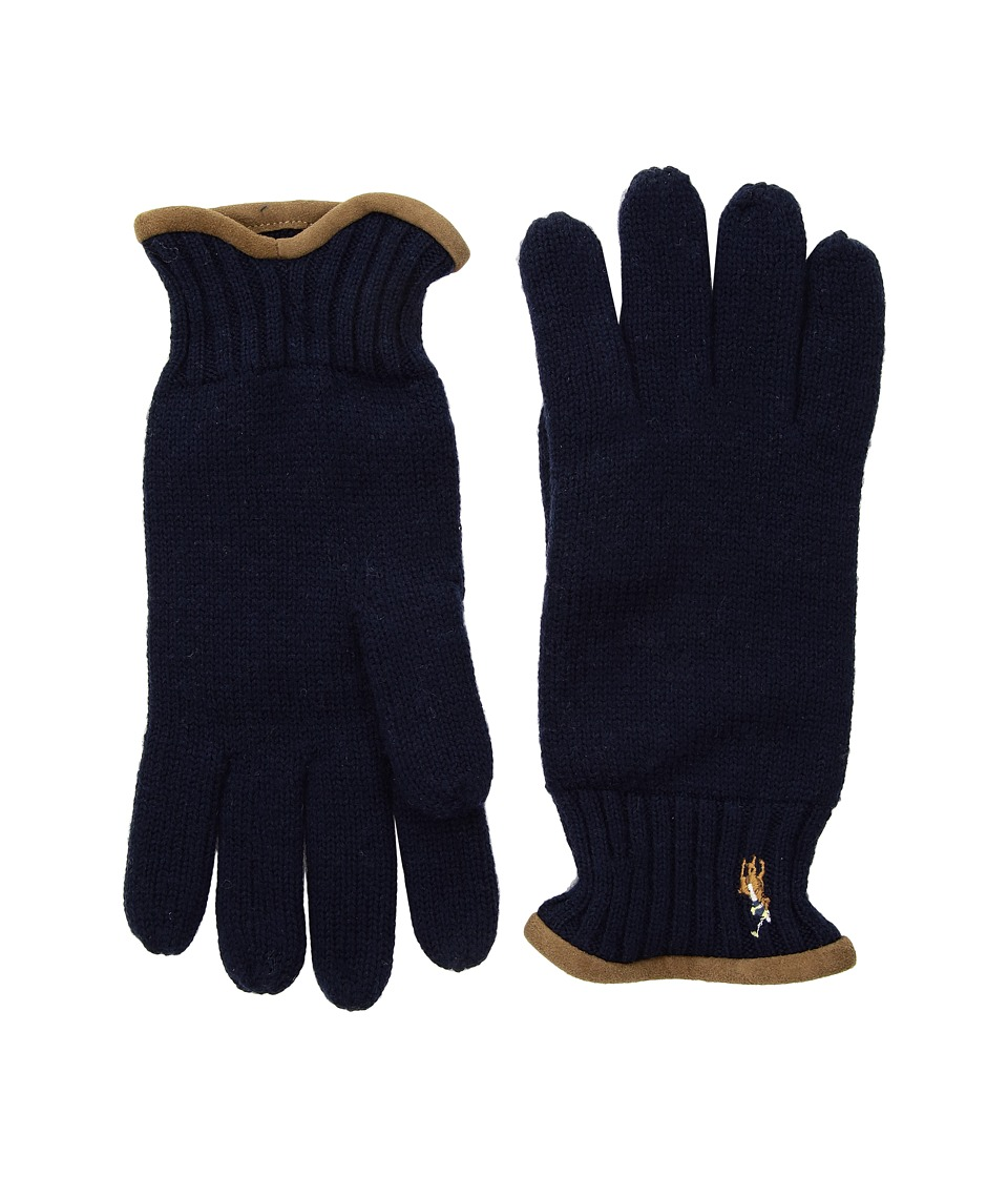 Polo Ralph Lauren Classic Lux Merino Gloves (Hunter Navy) Wool Gloves