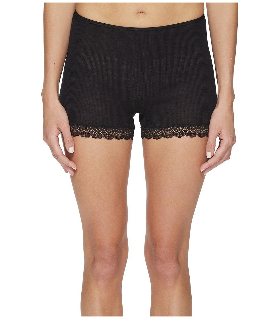 Hanro Woolen Lace Boyleg (Black) Women's Underwear