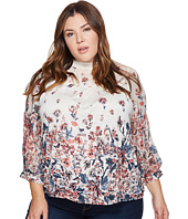 Lucky Brand - Plus Size Floral Mixed Print Top