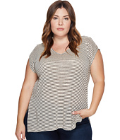 Lucky Brand - Plus Size Linen Stripe Top