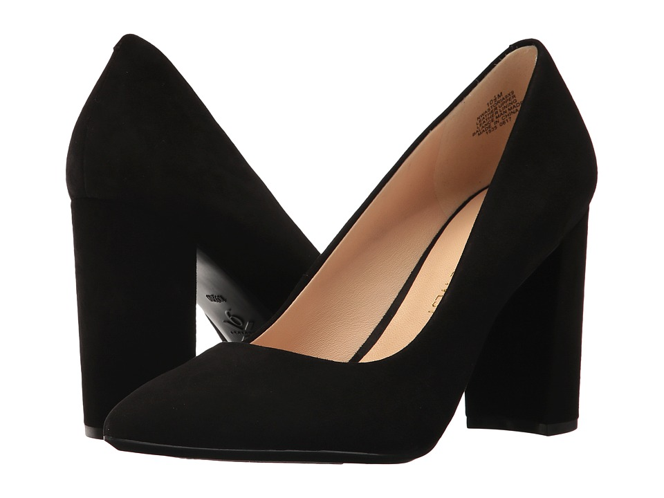 Nine West Astoria Block Heel Pump (Black Suede) High Heels