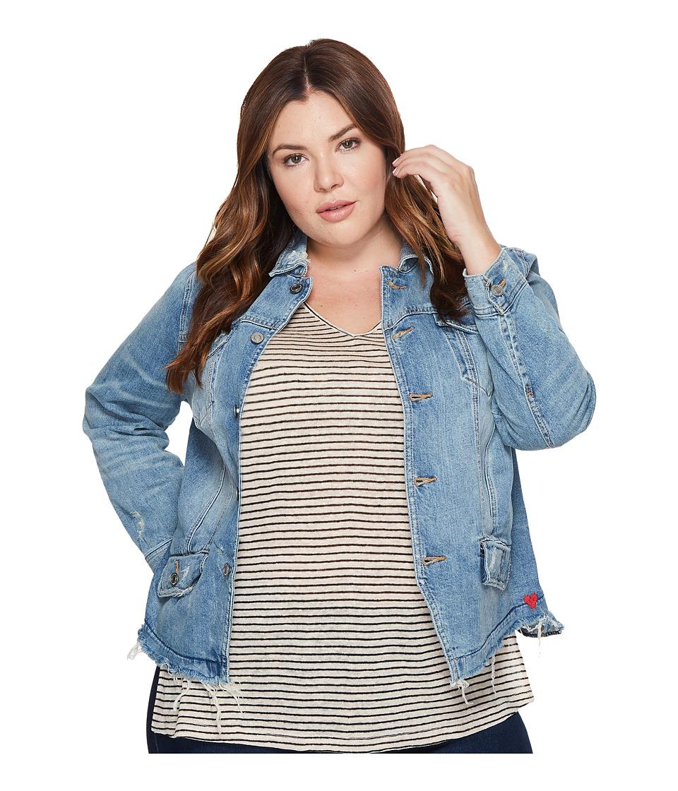 Lucky Brand Plus Size Waisted Trucker Jacket (Jones) Women