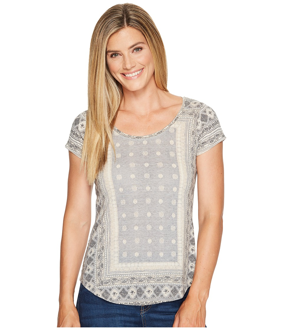Lucky Brand Short Sleeve Placed Tee (Grey Multi) Women