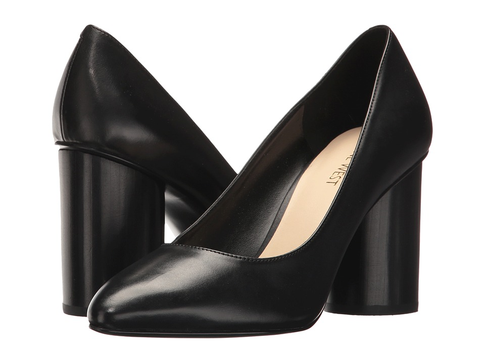 Nine West - Cardya (Black Leather) High Heels
